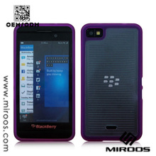 Two Pieces Clear Plastic Cell Phone Case for Blackberry Z10
