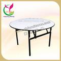 Moda e forte mesa redonda, estrutura de aço, usado para o banquete, mesa de jantar dobrável yc-t01