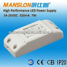 full range AC input 7w 350ma led driver 350ma