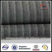 Online store women's coat MG13318 stripe woven china fabric wholesale