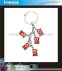 custom made promotional gift flag metal key chains charm