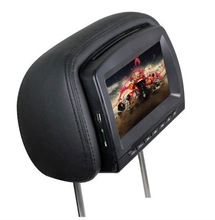 car monitor with detachable headrest Ir headphone AV input