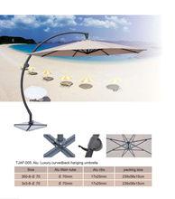 Luxury curved back hanging umbrella