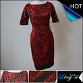 Manga corta del vestido ocasional para mujeres