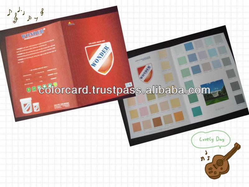 Emulsion coating color chart card