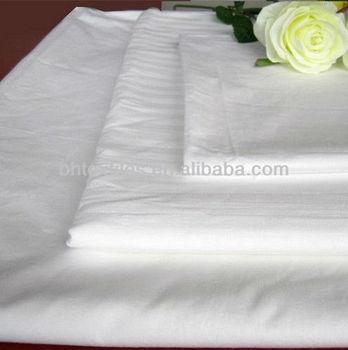 Ployester/cotton 65/35 45x45 96x72 poplin pocket white fabric
