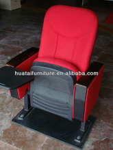 Plastic seat and back shelf cold foam durable theater chair