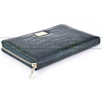 Sıcak satış!!! Timsah doku fermuar cüzdan durumda ipad mini el bandı