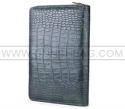 Vente chaude!!! Crocodile texture zipper Étui pour l'ipad mini avec dragonne