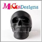 Factory Manufacture Wholesale Decor Art Gift Ceramic Gold Halloween Decoration Skull