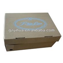 Corrugated kraft cardboard shoe boxes