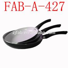 Popular White Ceramic Coating 3PCS Aluminium Nonstick Cookware Set