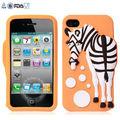 Animali in silicone per iphone caso 5, cat custodia in silicone per iphone 4, come fare un telefono cellulare in silicone caso con coperchi