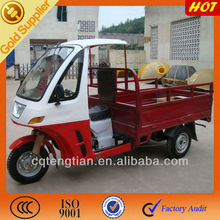 Enclosed Gas Motor Tricycle for Cargo