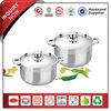 4-Piece Graceful Stainless Steel Factory Lifetime Cookware