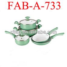 Aluminium ceramic pots,colorful ceramic cookware from china