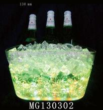 Colorful Led Light Up Ice Bucket,32.5 cm led light up ice bucket