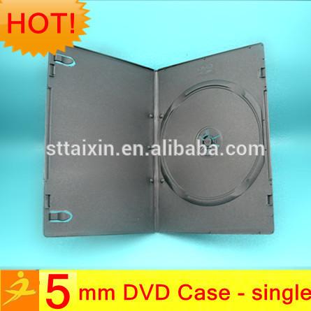 5mm black single/double slim dvd case