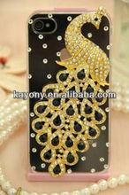 case for LG p700 p715 E400 peacock phoenix diamond shell phone sets