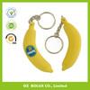 customs Plastic fruits Key Ring/soft pvc banana key chain/rubber key chain/banana keyring