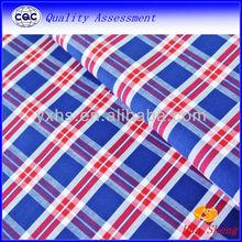 Yard Dyed Blue Red Plaid Shirt fabric 100% Cotton