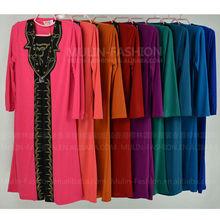 2013 ragazzi nuovo stile abaya disegni bordare abbigliamentoislamico ingrosso 9 colori