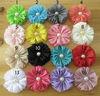 CF0727 Chic custom make colorful ruffled chiffon handmade fabric flowers brooches