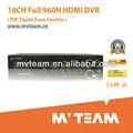 mvteam produttore di porcellana 16 canali pieno 960h h 264 dvr manuale