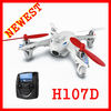 Hubsan X4 H107D newest item 2.4ghz 4ch rc quadcopter 5.8GHz Video transmission mini rc ufo flying quadcopter H107 FPV version