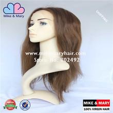 Glueless Silk Human Hair Top Full Lace Wig