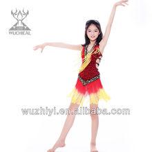 Popular Costume Girl Latin Dance Dress / Child Latin Dance Costume / Children Latin Dance Dress