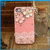 lace flowers crystal pearl case cover for iphone 5 5s