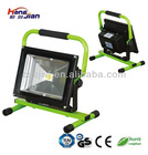 ITS rechargeable led floodlight 20w smd rgb led with remote car charging Portable outdoor light garden LED