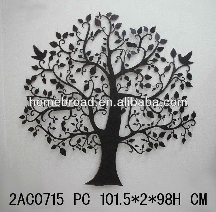 Wholesale 2014 china creative metal tree Metal wall decor cheap