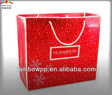 High Quality Spot UV Gift Paper Bags with cotton handle