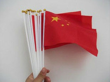 Wholesale China National Hand Flag With Plastic Poles for festival