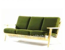 HANS J. WEGNER 3 seat sofa solid wood fabirc Danish Wegner 3 Seater Sofa