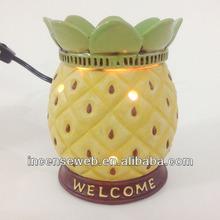 Ceramic fruit wax incense burner,ceramic incense burner,fruit incense burner