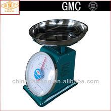 Bowl Shape Steel Pan Painted Iron Shell kg & lb Unit Single Dial Mechanical Weight Scale for 8kg 10kg 15kg 20kg 30kg ATZ-S-C