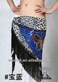 Moda trajes dança do ventre lenço de quadril, pendão tribal lantejoulas dança do ventre egípcia desempenho lenço de quadril( yl005)