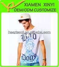 Men Newest Pattern Printing Fashion Bamboo Fiber T Shirt