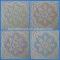 2013 moderno artística patrón plano yeso-cartón falso techo de diseño