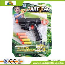 23cm preto arma de brinquedo macio