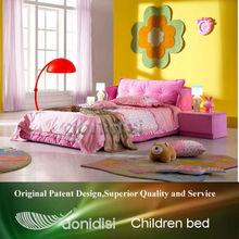 Fabric pink kids queen size bed EEAE010