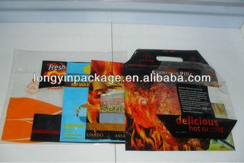 ANTI FOG slide zipper rotisserie chicken bags/plastic bag for hot food/plastic bag with zipper for hot chicken