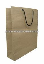 "JUMBO PAPER BAG SQ BOTTOM NYLON HANDLE 19.5"""