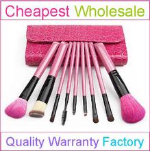 9pcs hot selling natural make up brush wholesale