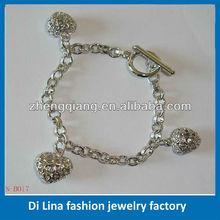 Promotional bracelet brass zircon