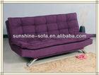 Double Cushions Sofa Sleeper/ Microfiber Recliner Futon Sofa Sleeper Bed