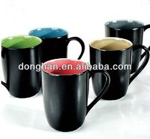 write on the mug Matte effect black mug